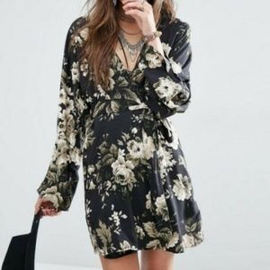 Denim & Supply Ralph Lauren Printed Wrap Dress M